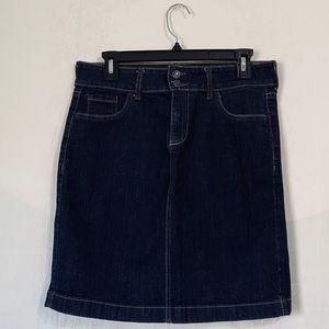 Old Navy Ultra Blue denim midi skirt slit back 8